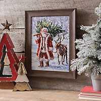 North Pole Tree Farm Framed Art Print