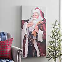 Shhh Santa Canvas Art