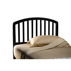 Cora Black Wood Twin Headboard