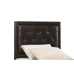Beckett Brown Faux Leather Tufted Twin Headboard