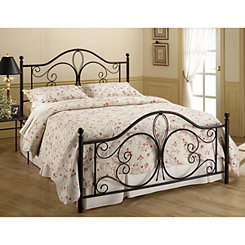 Meredith Scroll Metal Bronze Full Bed Set