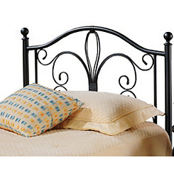 Meredith Bronze Metal Scroll Twin Headboard