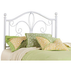Rachelle White Metal Twin Headboard