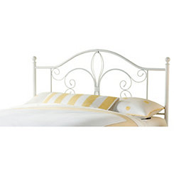 Rachelle White Metal Full/Queen Headboard