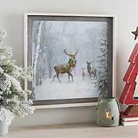 Woodland Holiday Deer Framed Art