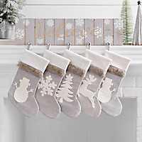 Believe Wooden Mantel Stocking Holder