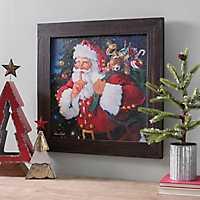 Santa with Toy Sack Framed Art Print