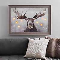 Pre-Lit Elmer the Moose Framed Canvas Art Print