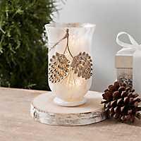 Pre-Lit Pine Cone Vase