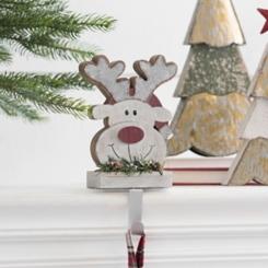 Reindeer Mantel Stocking Holder