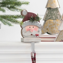 Santa Mantel Stocking Holder