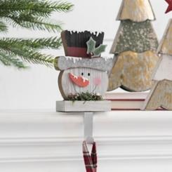 Snowman Mantel Stocking Holder