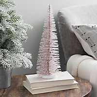 Blush Bottlebrush Christmas Tree, 13 in.