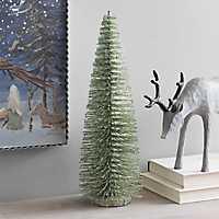 Green Bottlebrush Christmas Tree, 13 in.