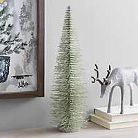 Green Bottlebrush Christmas Tree, 17 in.