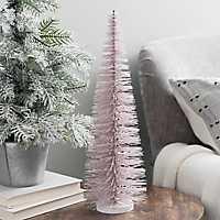 Blush Bottlebrush Christmas Tree, 17 in.