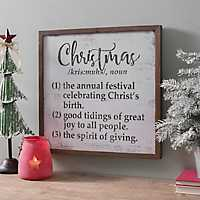 Christmas Definitions Plaque