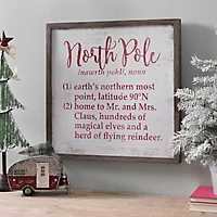 North Pole Definitions Plaque