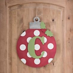 Polka Dot Monogram C Ornament Wall Plaque
