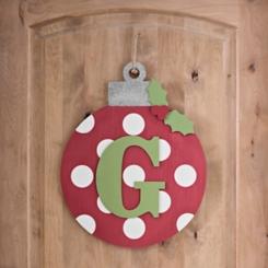 Polka Dot Monogram G Ornament Wall Plaque