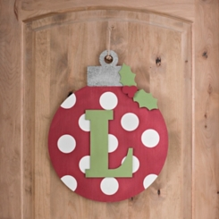 Polka Dot Monogram L Ornament Wall Plaque