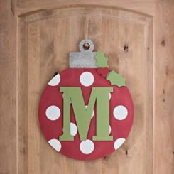 Polka Dot Monogram M Ornament Wall Plaque
