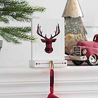 Deer Block Mantel Stocking Holder
