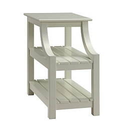 Cream Webster Chairside Accent Table