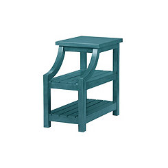 Teal Webster Chairside Accent Table