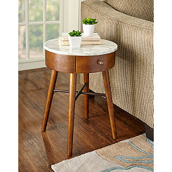 Morrison Accent Table with Faux Marble Top
