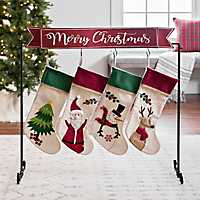 Standing Merry Christmas Stocking Holder