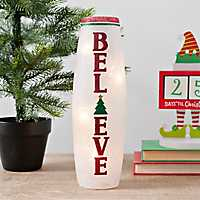 Pre-Lit Believe Christmas Hurricane