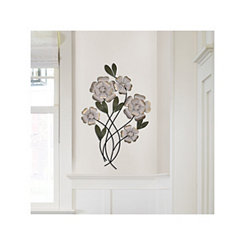 Sheva Metal Flowers Wall Plaque