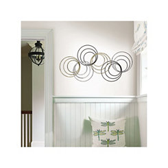 Wylber Rose Metal Circles Wall Plaque