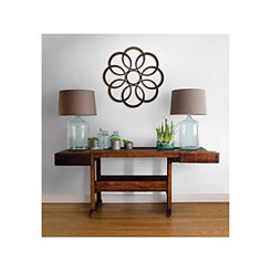 Sarah Abstract Metal Circles Wall Plaque