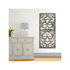 Gray Bellan Mirrored Scroll Plaque