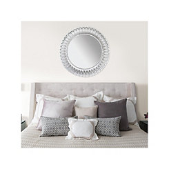 Silver Elam Metal Wall Mirror