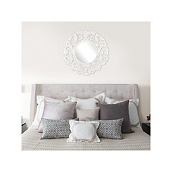 Foley White Wood Wall Mirror