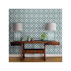 Blue Lattice Hemlock Peel and Stick Wallpaper