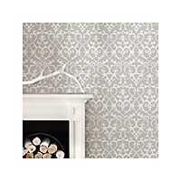 Gray Ironwork Peel and Stick Wallpaper