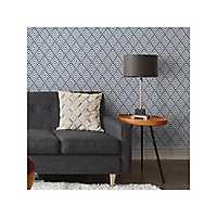 Arrowhead Deep Blue Peel and Stick Wallpaper