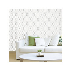 Silver Circulate Light Peel and Stick Wallpaper