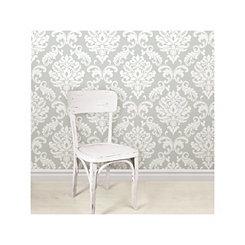 Gray Ariel Peel and Stick Wallpaper