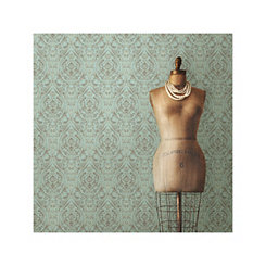 Green Nomad Damask Peel and Stick Wallpaper
