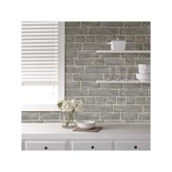 Gray Brick Facade Peel and Stick Wallpaper