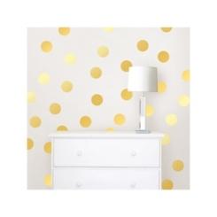 Gold Confetti Dot 64-pc. Wall Decal Set