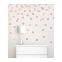 Rose Gold Confetti Dot 64-pc. Wall Decal Set