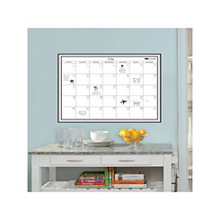White Monthly Dry Erase Calendar Wall Decal