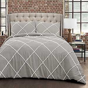 Gray Diamond 3-pc. Full/Queen Comforter Set