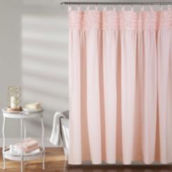 Blush Lydia Ruffle Shower Curtain
